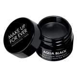 MAKE UP FOR EVER Vandeniui atsparus akių apvadas, AQUA BLACK, juodas, 7 g