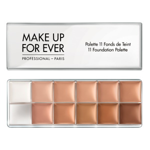MAKE UP FOR EVER 11 Foundation Palette - 11 makiažo pagrindų paletė profesionalams, 11x6g