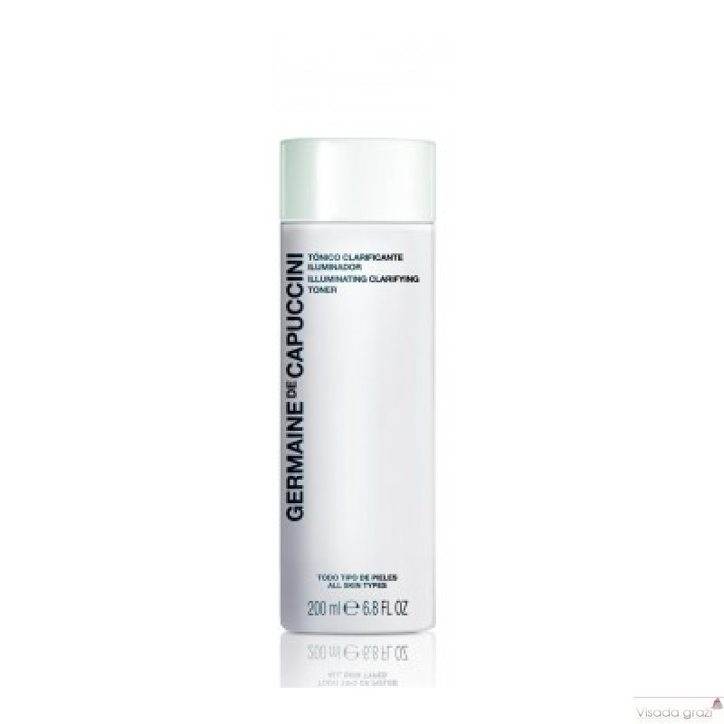 GERMAINE DE CAPUCCINI OPTIONS ILLUMINATING SKAISTINANTIS IR VALANTIS TONIKAS,  200ML