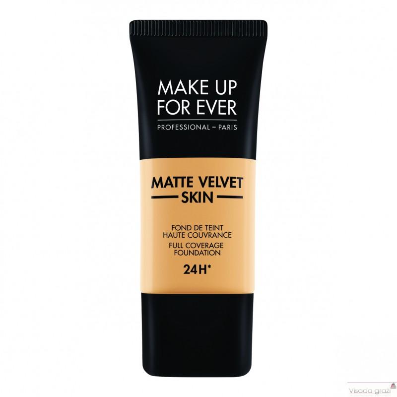 MAKE UP FOR EVER MATTE VELVET SKIN FOUNDATION matinanti kreminė pudra, 25 atspalviai pasirinkimui, 30ml