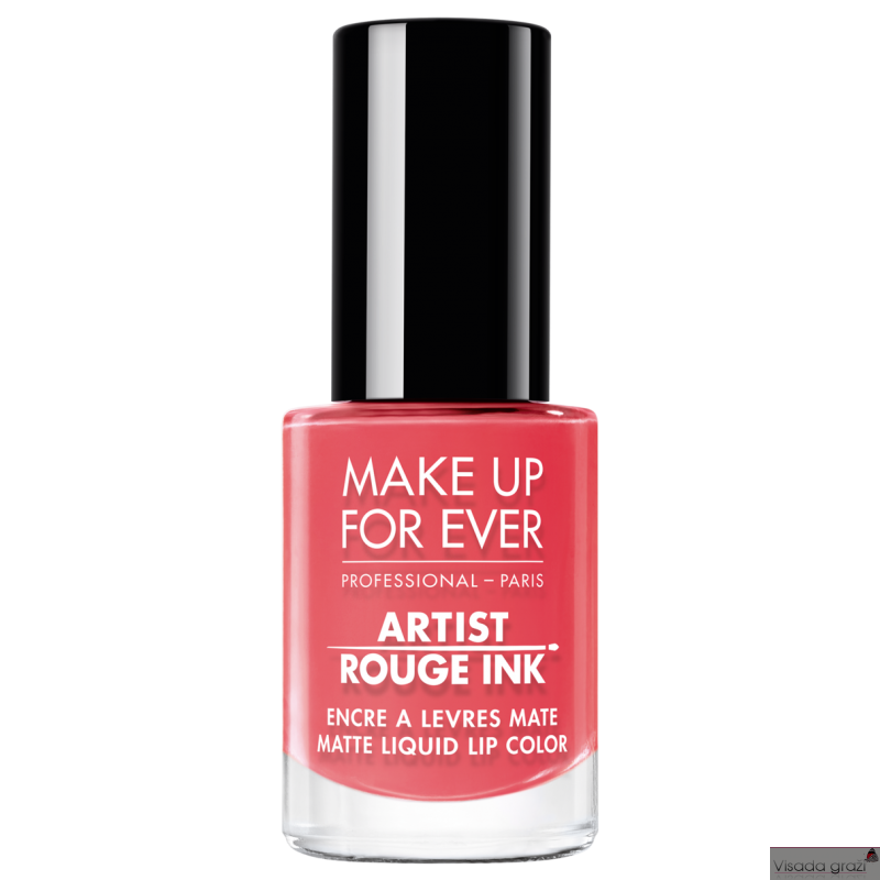 MAKE UP FOR EVER ARTIST ROUGE INK  MATTE LIQUID LIP COLOR matinis lūpų lakas, 16 spalvų pasirinkimui, 4,5ml