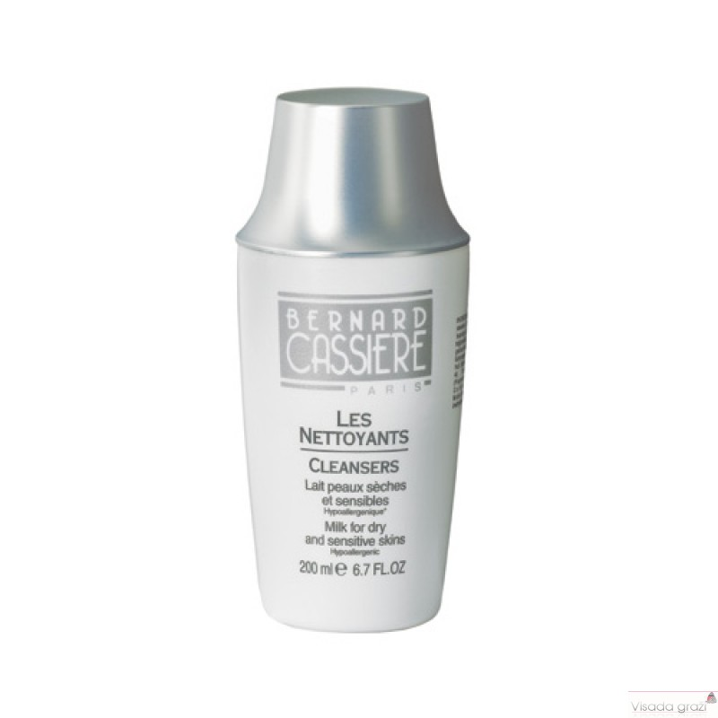 BERNARD CASSIERE Hipoalerginis pienelis sausai, jautriai odai, Milk for dry and sensitive skins Hypoallergenic, 200ml