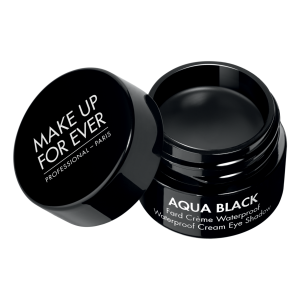KOSMETIKA, MAKE UP FOR EVER Vandeniui atsparus akių apvadas, AQUA BLACK, juodas, 7 g