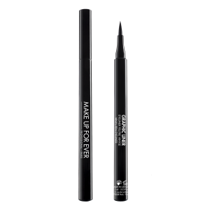 MAKE UP FOR EVER GRAPHIC LINER Vinyl Pen Eyeliner,  juoda plunksnelė akių pravedimams, 1ml  - NAUJIENA!