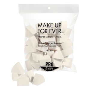 MAKE UP FOR EVER SINGLE USE SPONGE PACK Kempinelių krempudrai pokelis 40 vnt